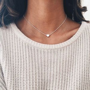 PreOrders 🌊 Silver Dainty Heart Necklace